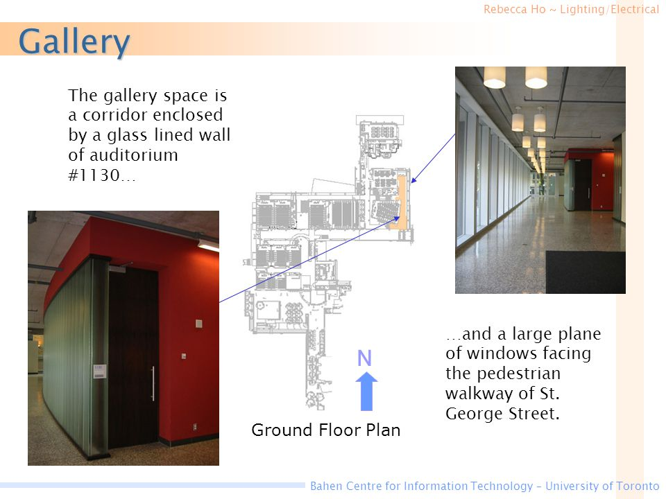 Gallery The gallery space is a corridor enclosed by a glass lined wall of auditorium #1130…
