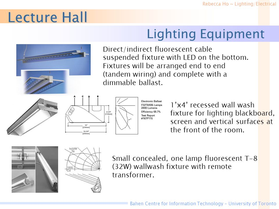 Lecture Hall Lighting Equipment