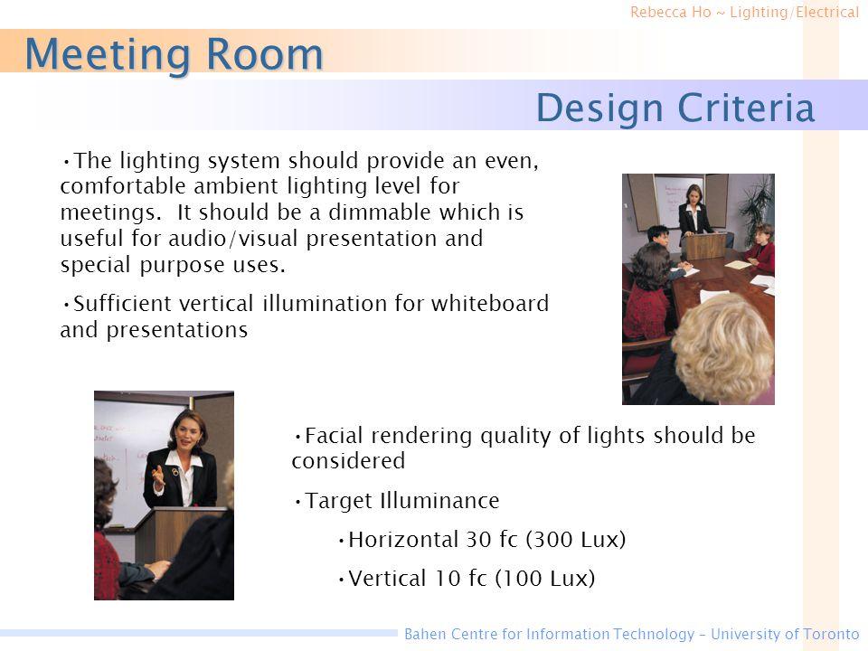 Meeting Room Design Criteria