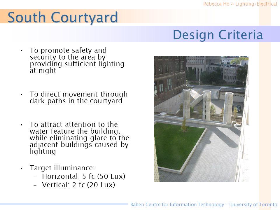 South Courtyard Design Criteria