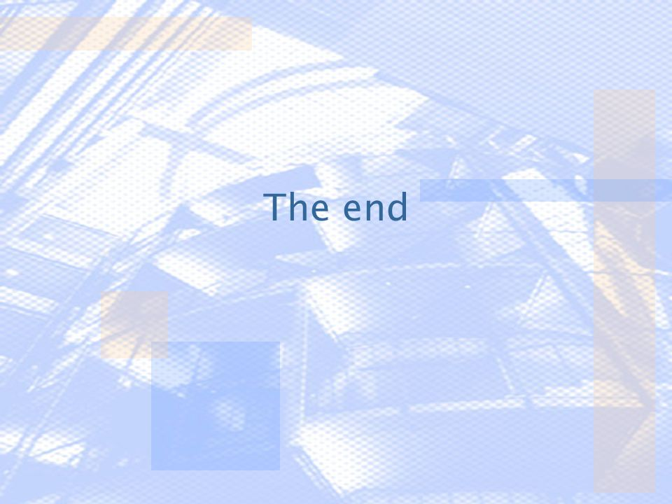 The end Bahen Centre for Information Technology – University of Toronto