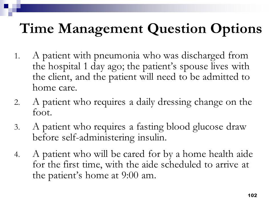 Time Management Question Options