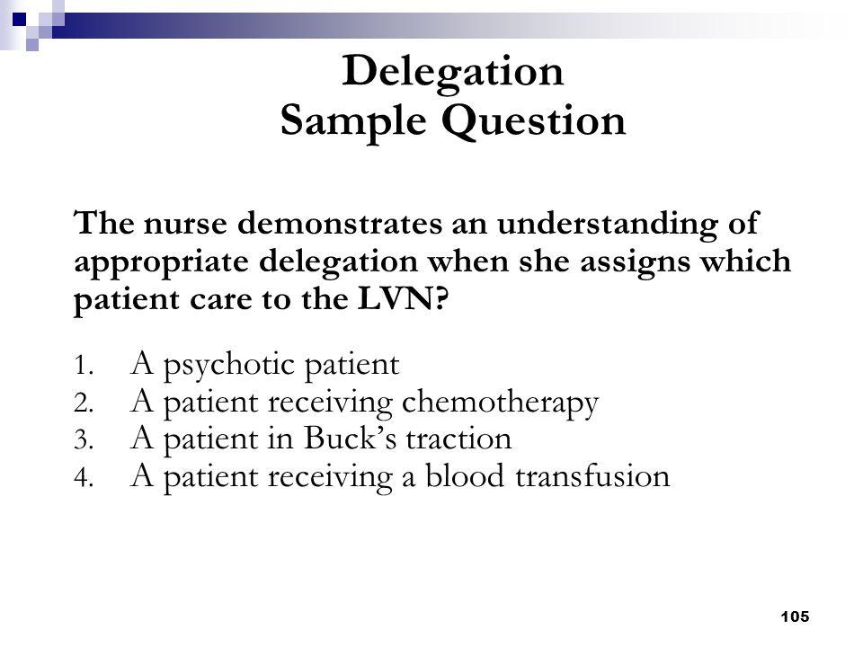 Delegation Sample Question