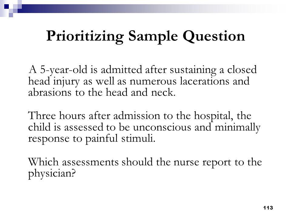 Prioritizing Sample Question