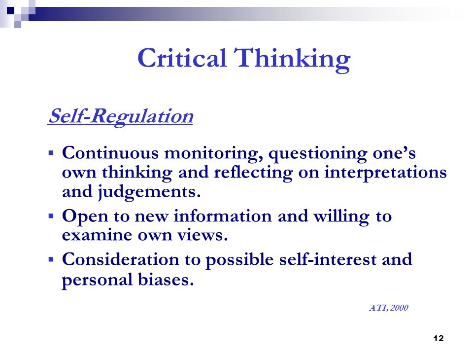 Ati critical thinking practice test