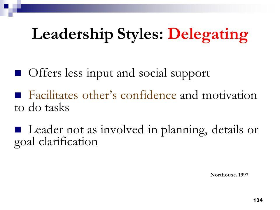 Leadership Styles: Delegating