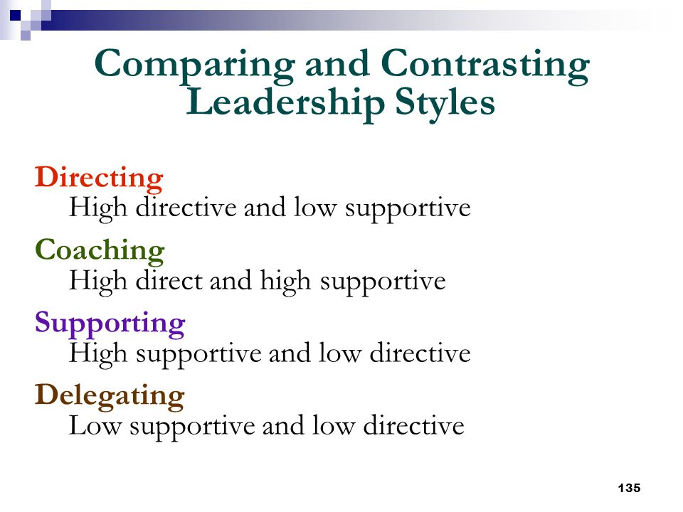 Comparing and Contrasting Leadership Styles