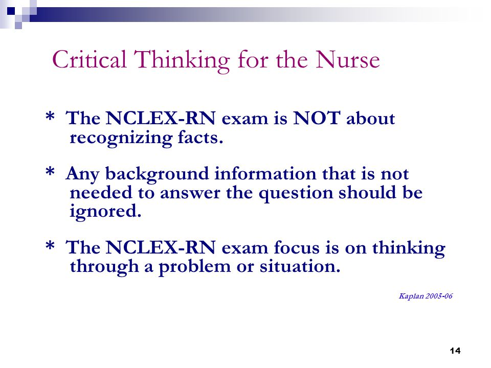 critical thinking questions related to nursing Sample exam: nursing  and professional obligations related to nursing  test items that promote and measure critical thinking journal of nursing education .