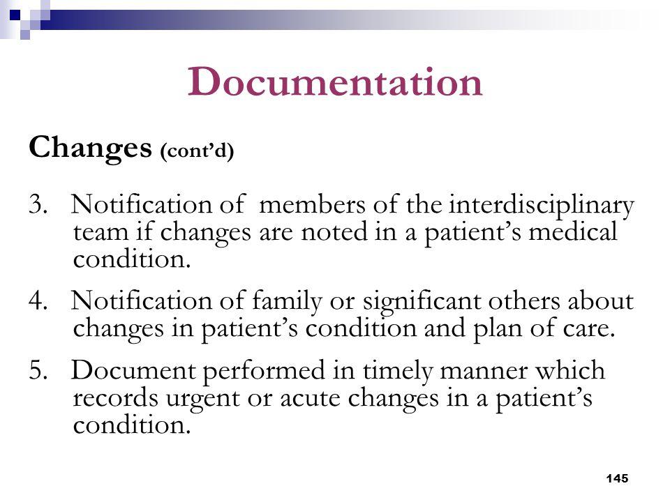 Documentation Changes (cont'd)