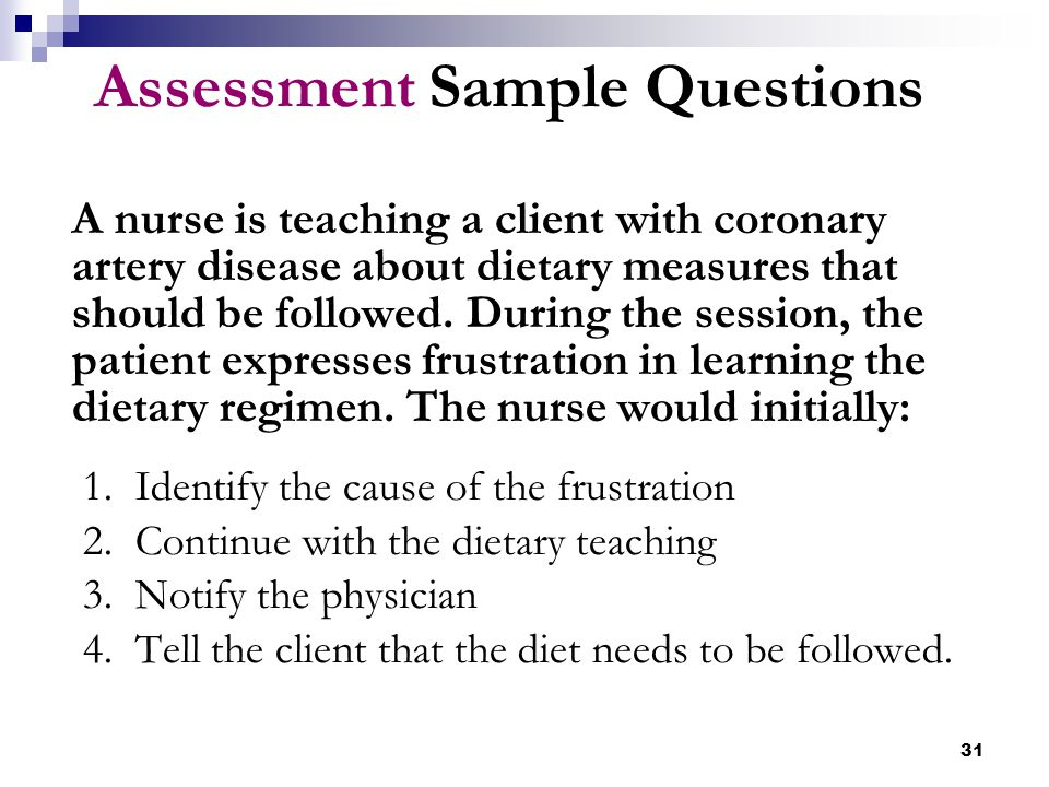 Assessment Sample Questions