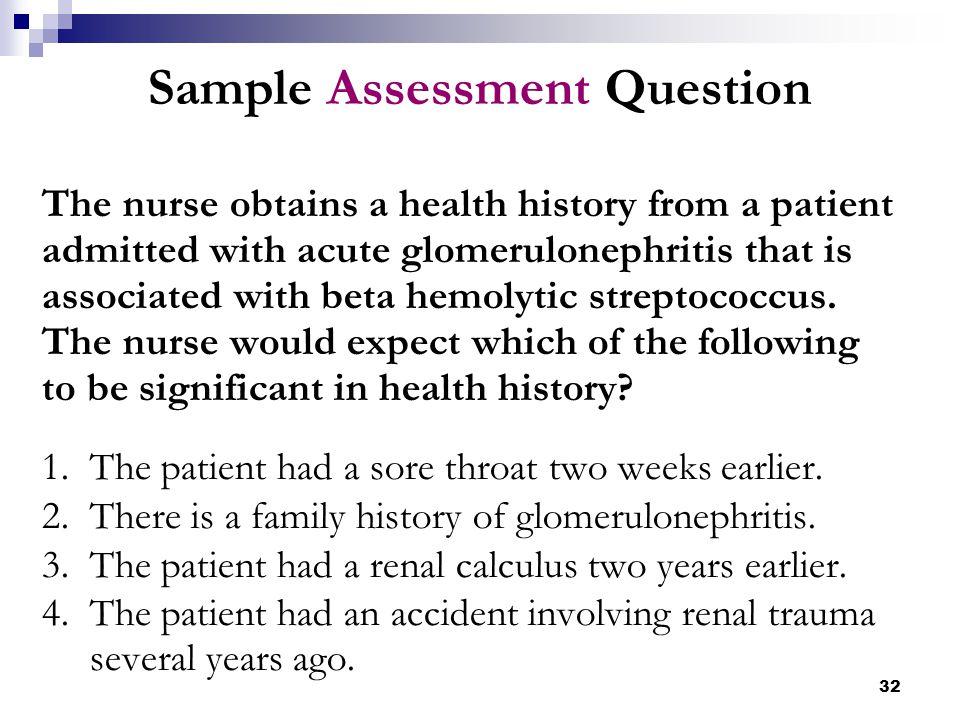 Sample Assessment Question