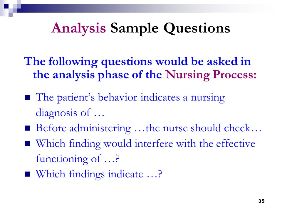 Analysis Sample Questions