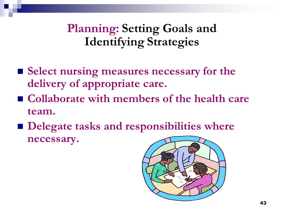 Planning: Setting Goals and Identifying Strategies