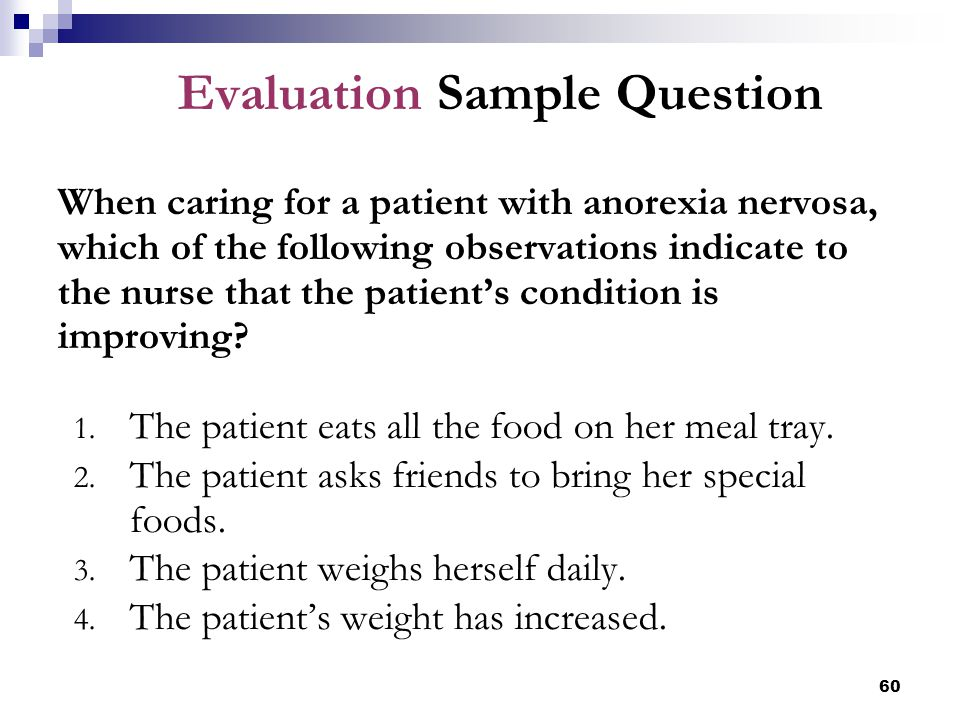 Evaluation Sample Question