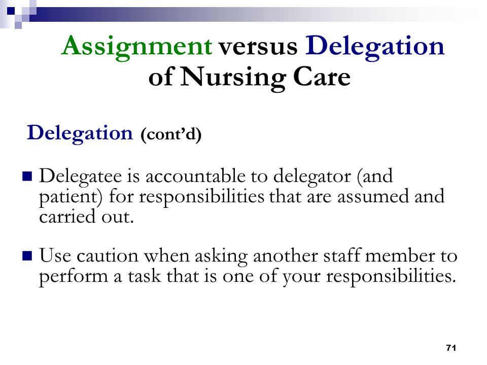assignment 204 duty of care 9 on-call duty/call back  temporary assignment and in charge  care but is not a certified graduate nurse,.