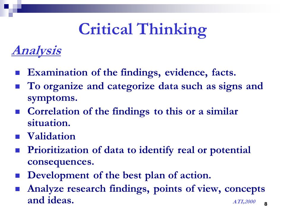 critical thinking in nursing process ppt 2010-6-9  critical thinking in nursing education:  elaine simpson, msn, rn  ulsenheimer 16 suggests critical thinking is a process for.