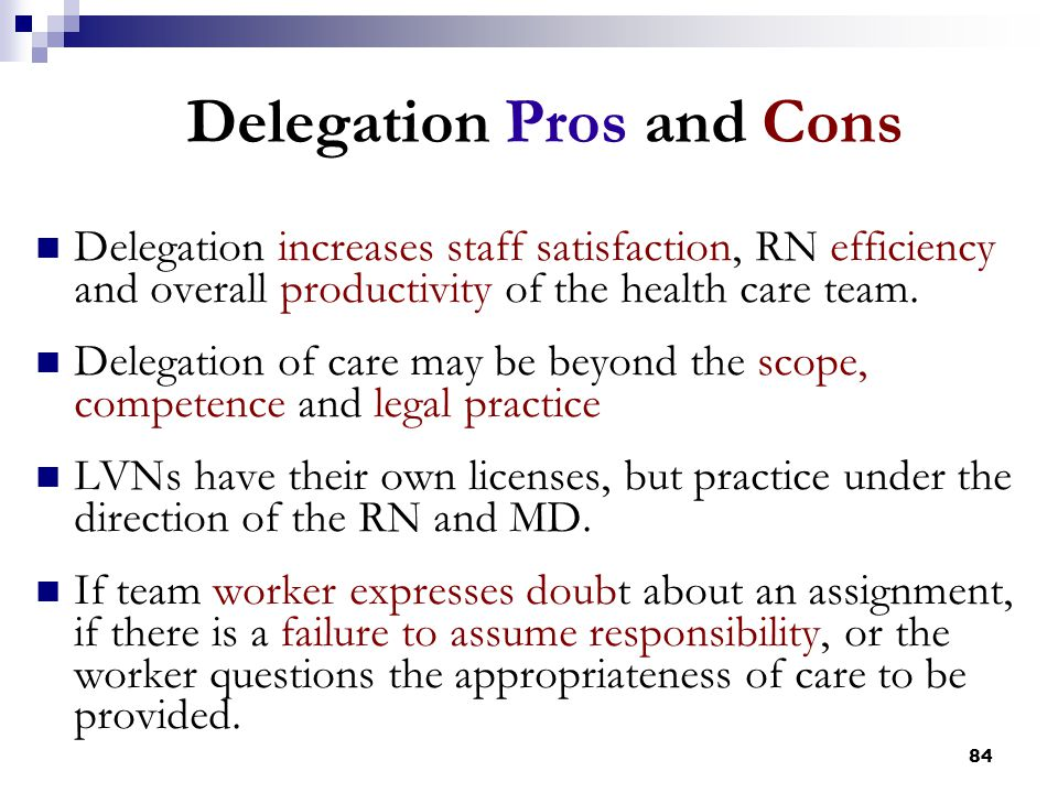 Delegation Pros and Cons