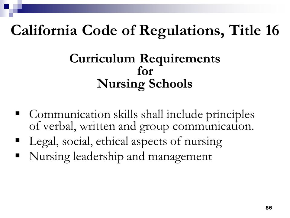 California Code of Regulations, Title 16