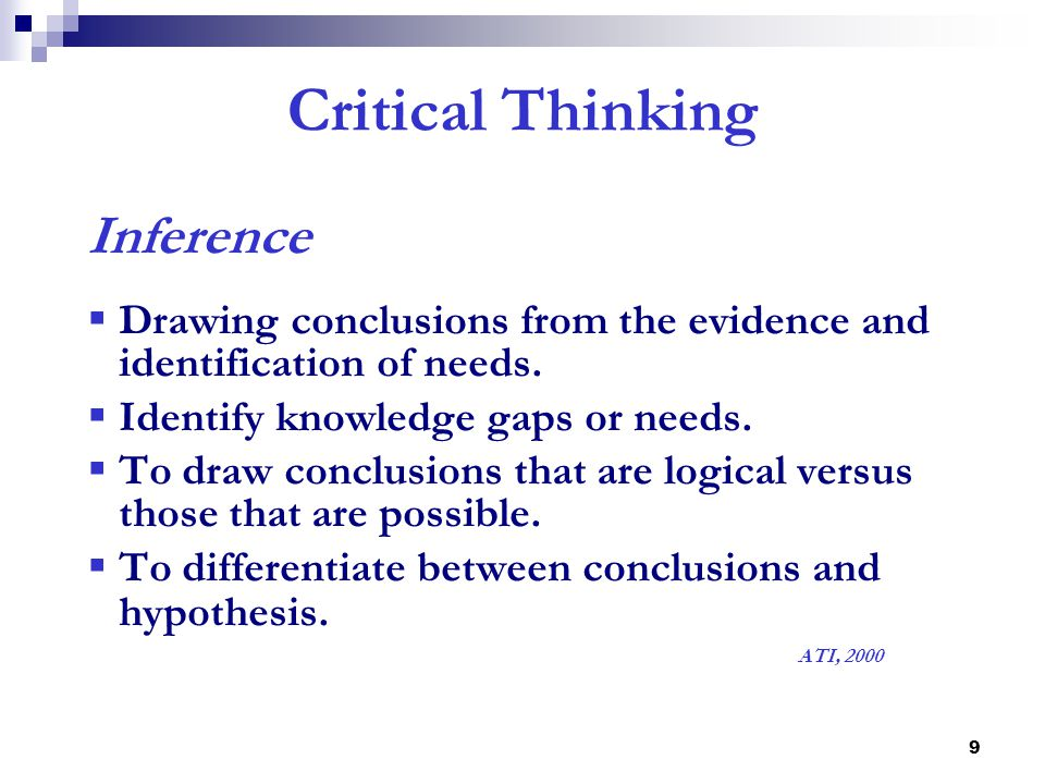 Critical Thinking Inference