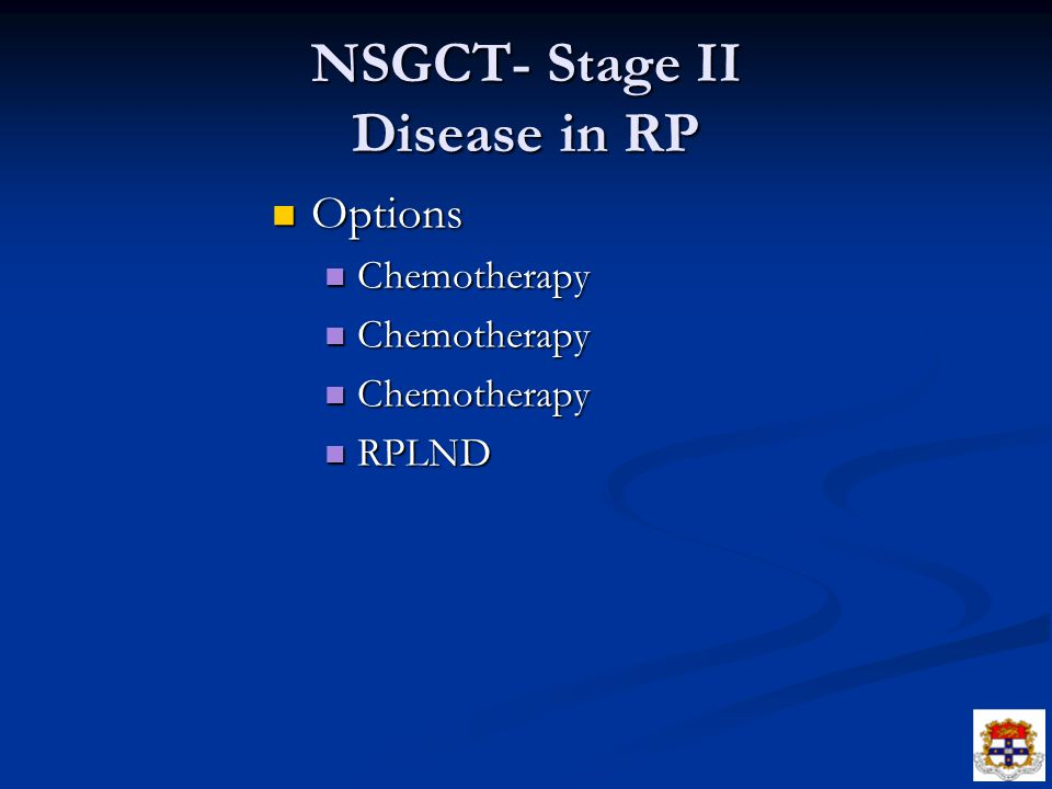 NSGCT- Stage II Disease in RP