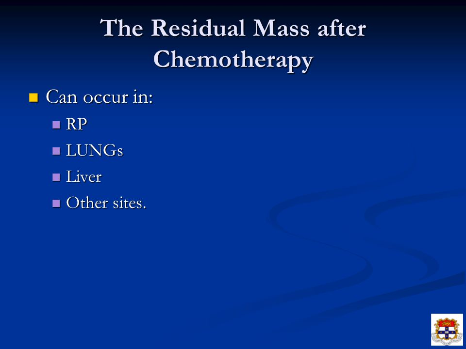 The Residual Mass after Chemotherapy