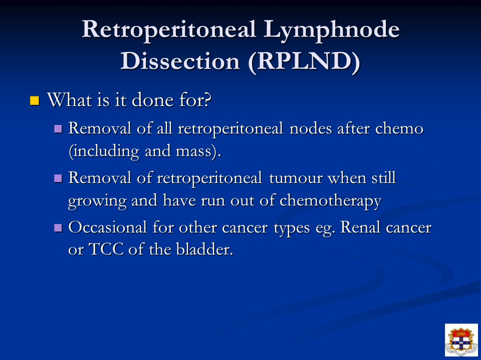 Retroperitoneal Lymphnode Dissection (RPLND)