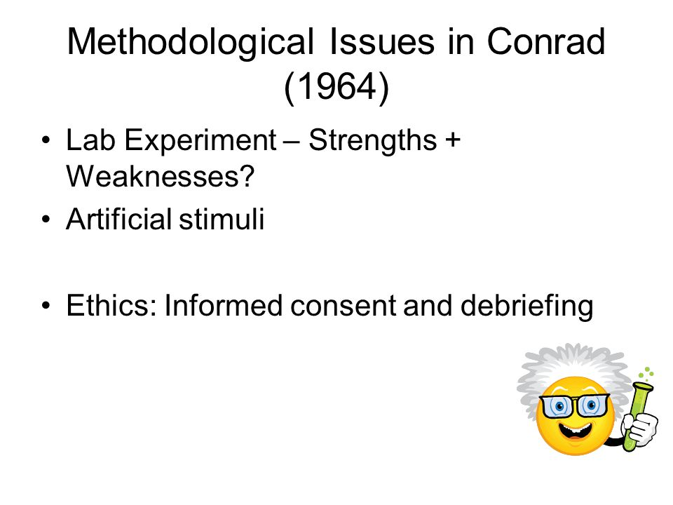 Methodological Issues in Conrad (1964)