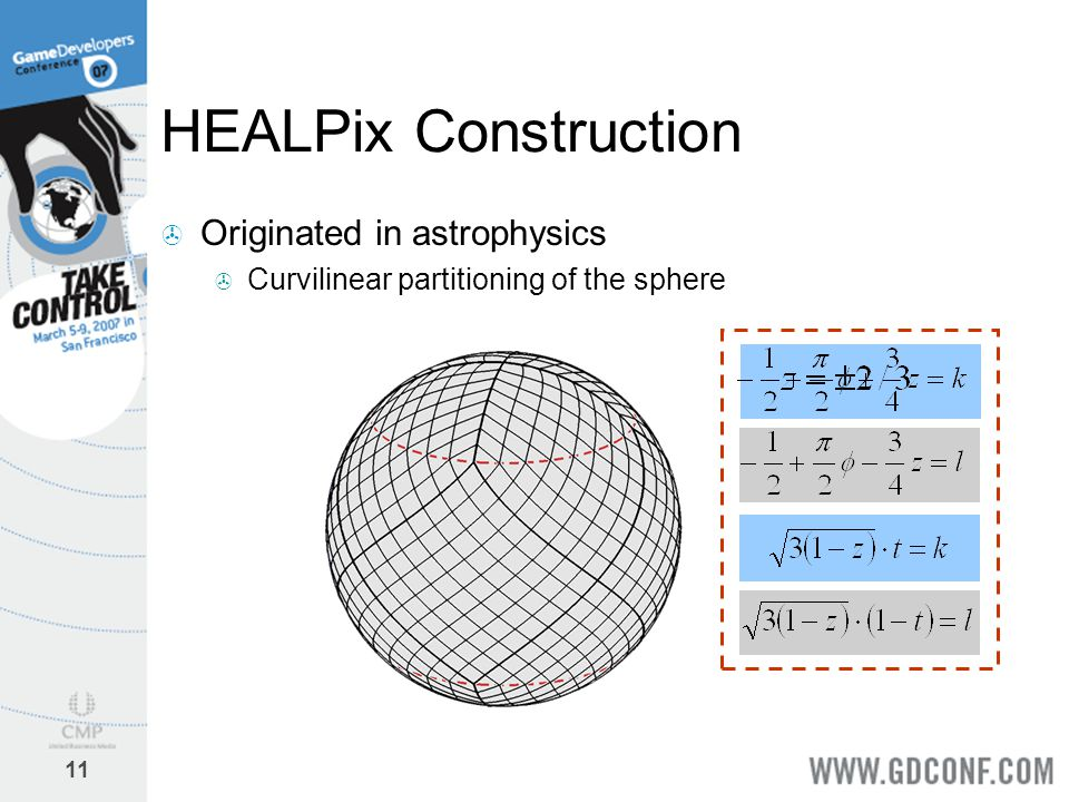 HEALPix Construction Originated in astrophysics