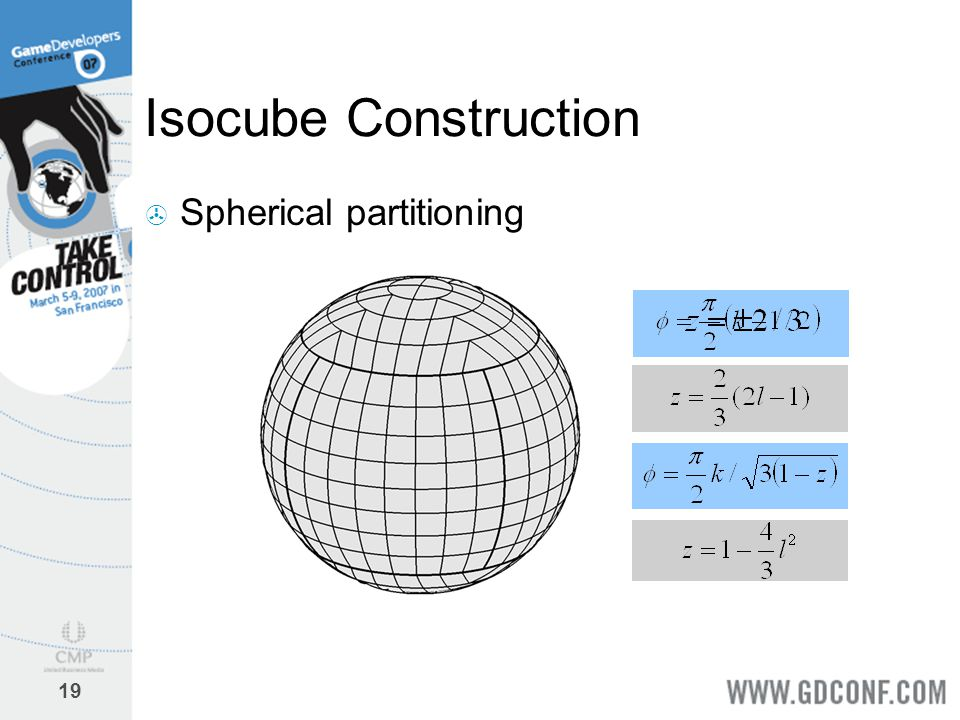 Isocube Construction Spherical partitioning