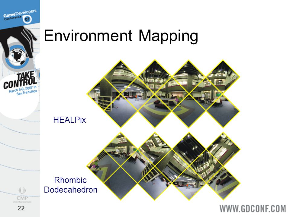 Environment Mapping HEALPix Rhombic Dodecahedron