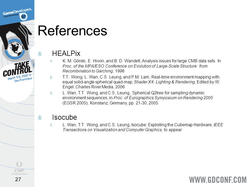References HEALPix Isocube