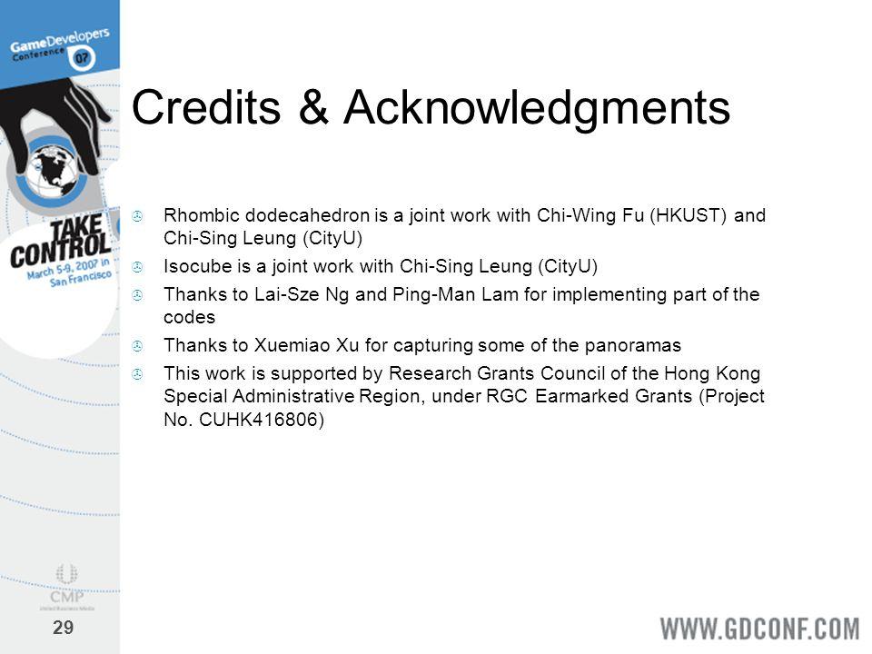 Credits & Acknowledgments