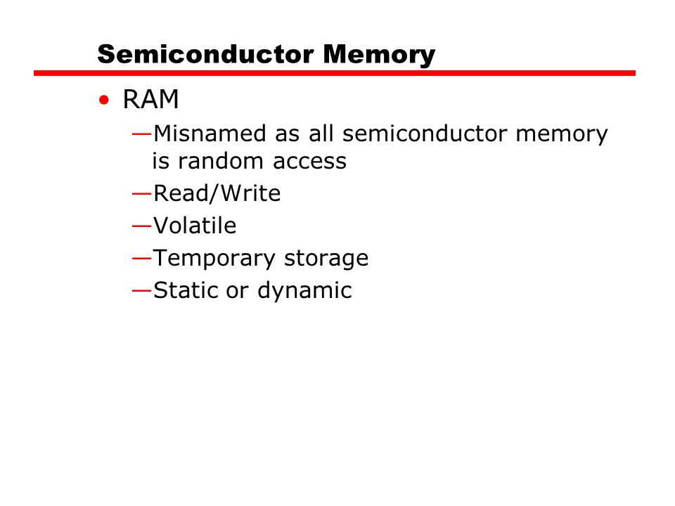 Semiconductor Memory RAM