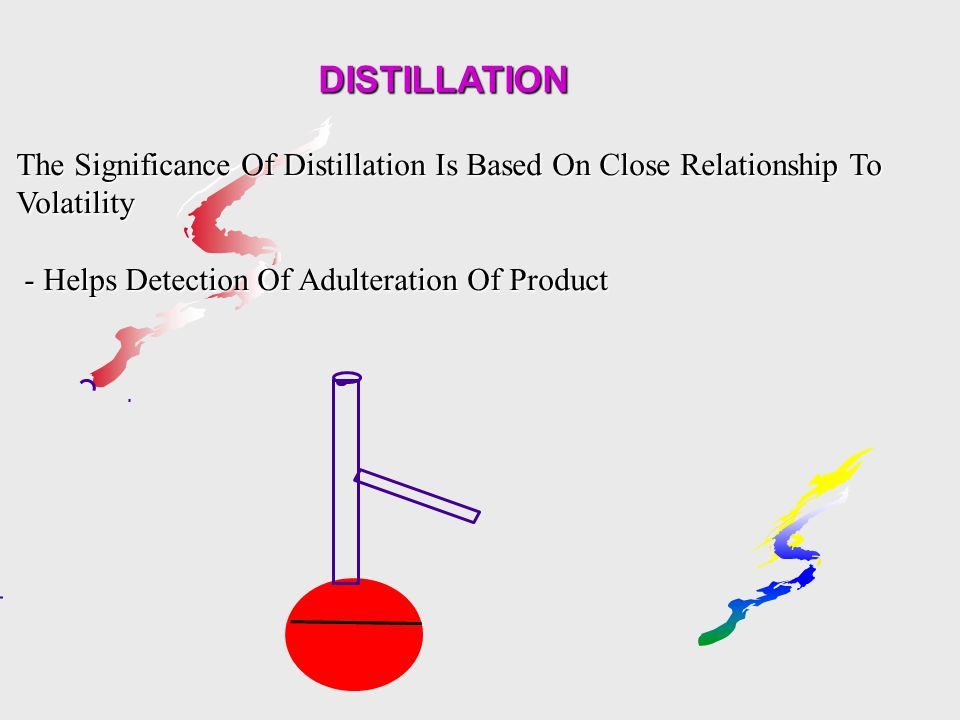 DISTILLATION The Significance Of Distillation Is Based On Close Relationship To Volatility.