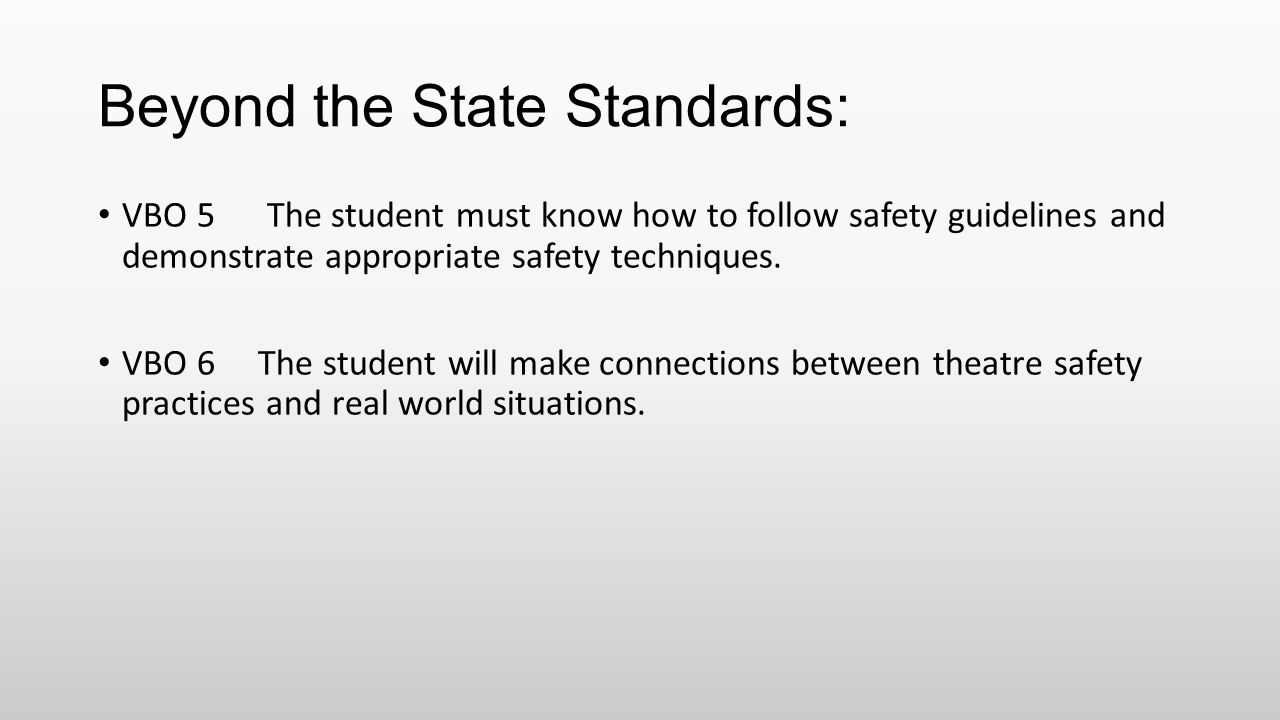 Beyond the State Standards:
