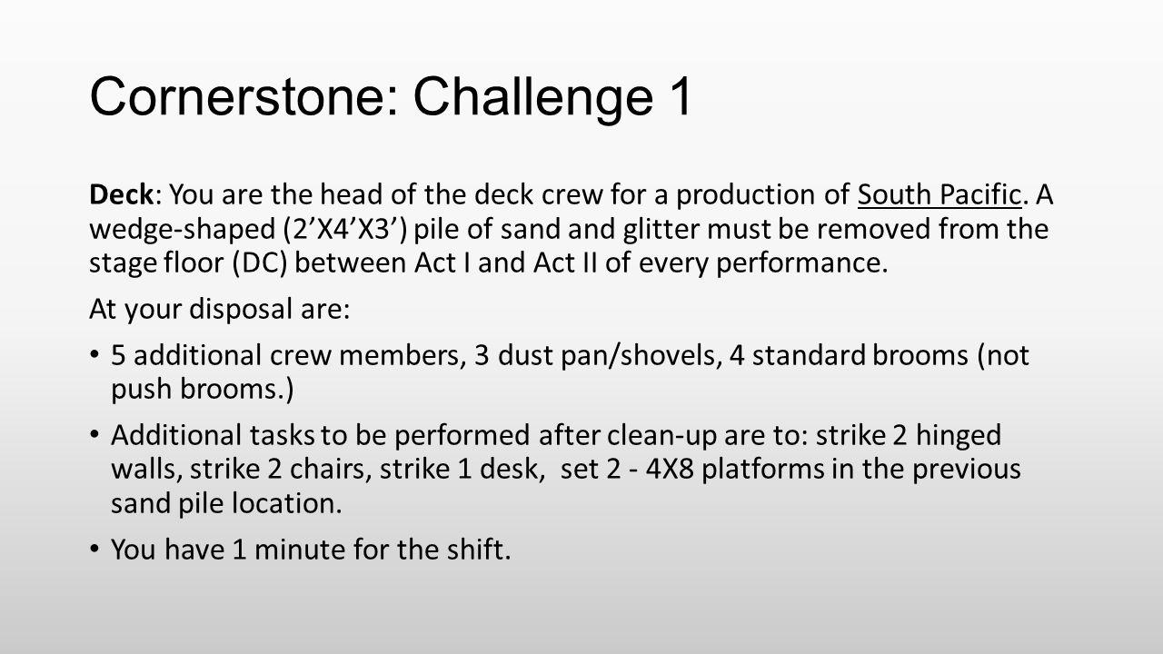 Cornerstone: Challenge 1