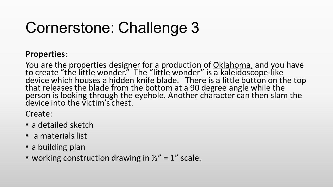 Cornerstone: Challenge 3