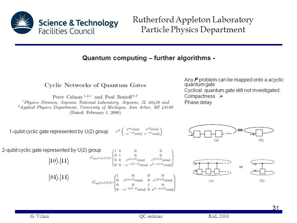 Quantum computing – further algorithms -