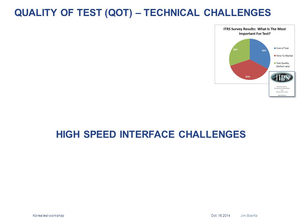 Quality of test (QOT) – Technical challenges