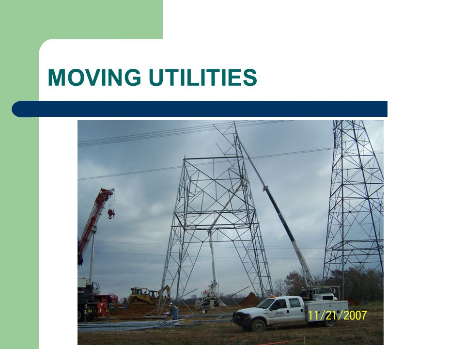 MOVING UTILITIES