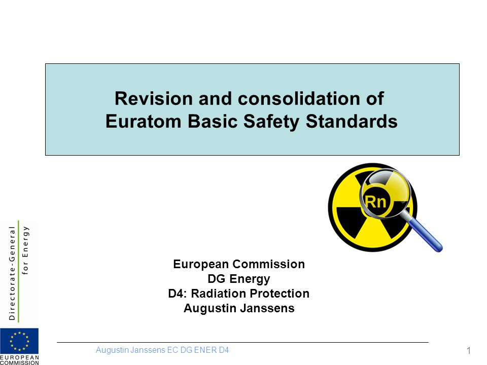 Revision and consolidation of Euratom Basic Safety Standards