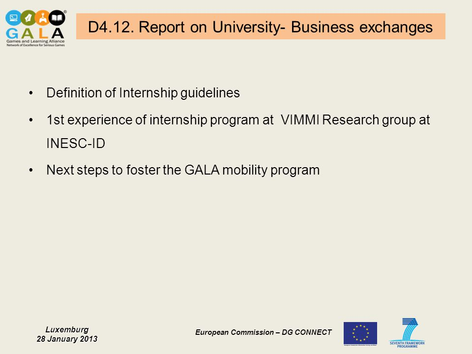 D4.12. Report on University- Business exchanges