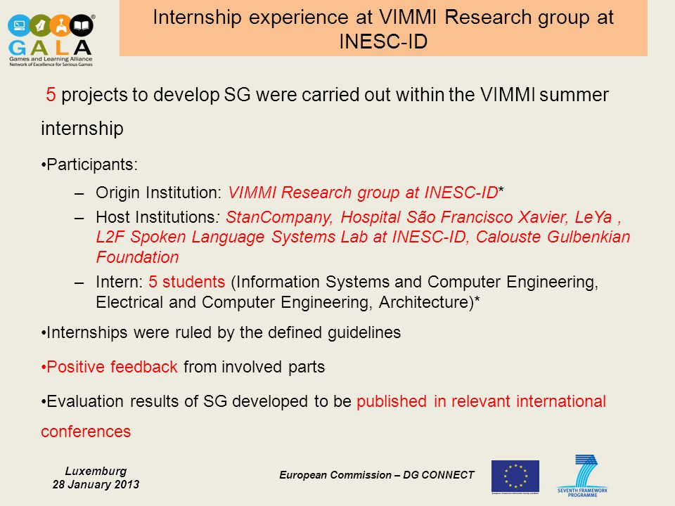 Internship experience at VIMMI Research group at INESC-ID