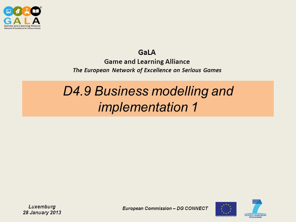 D4.9 Business modelling and implementation 1