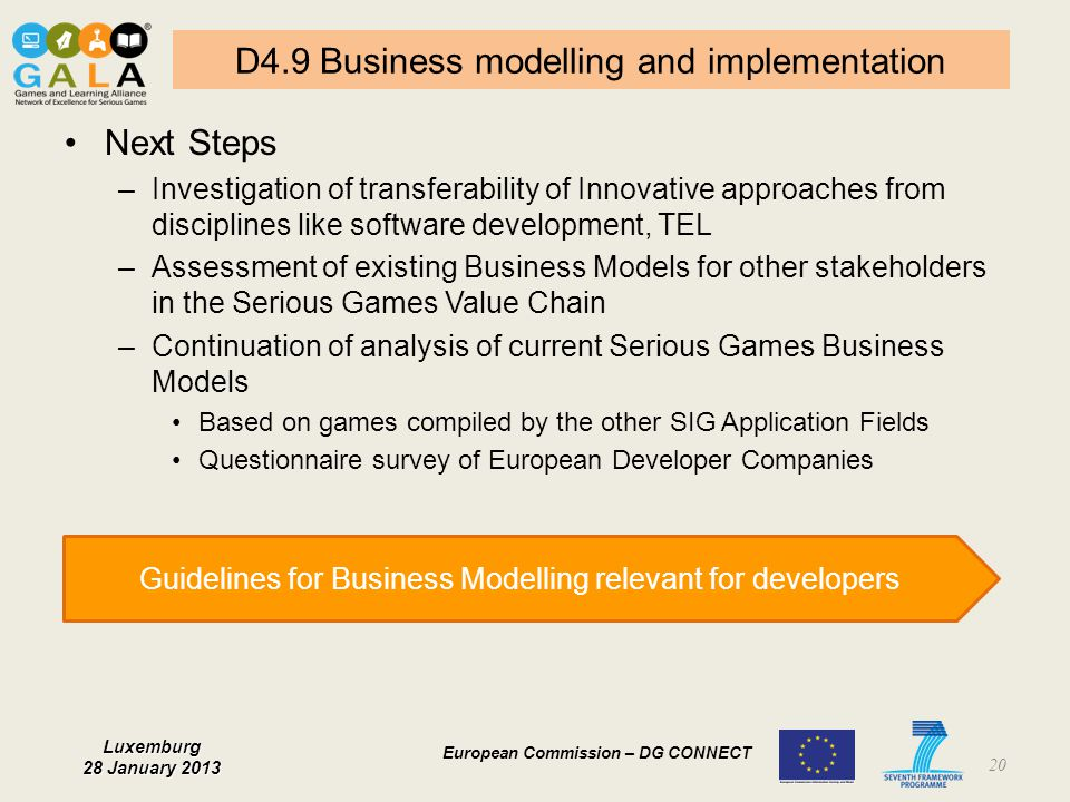 D4.9 Business modelling and implementation