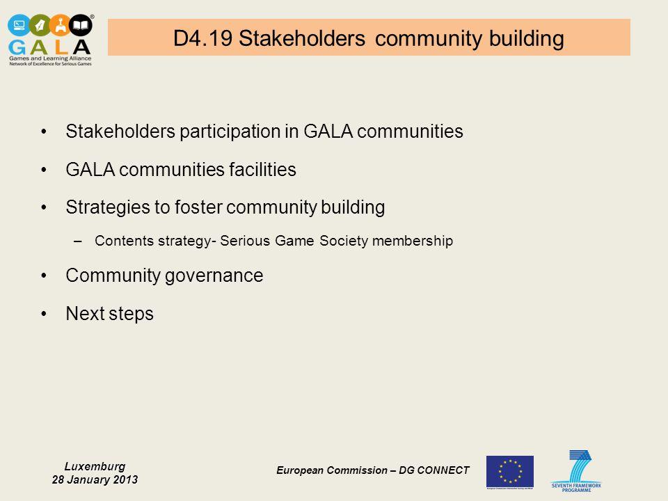 D4.19 Stakeholders community building