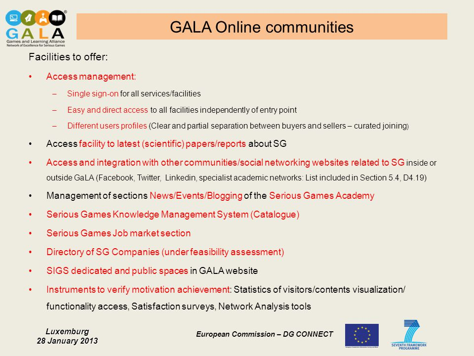 GALA Online communities