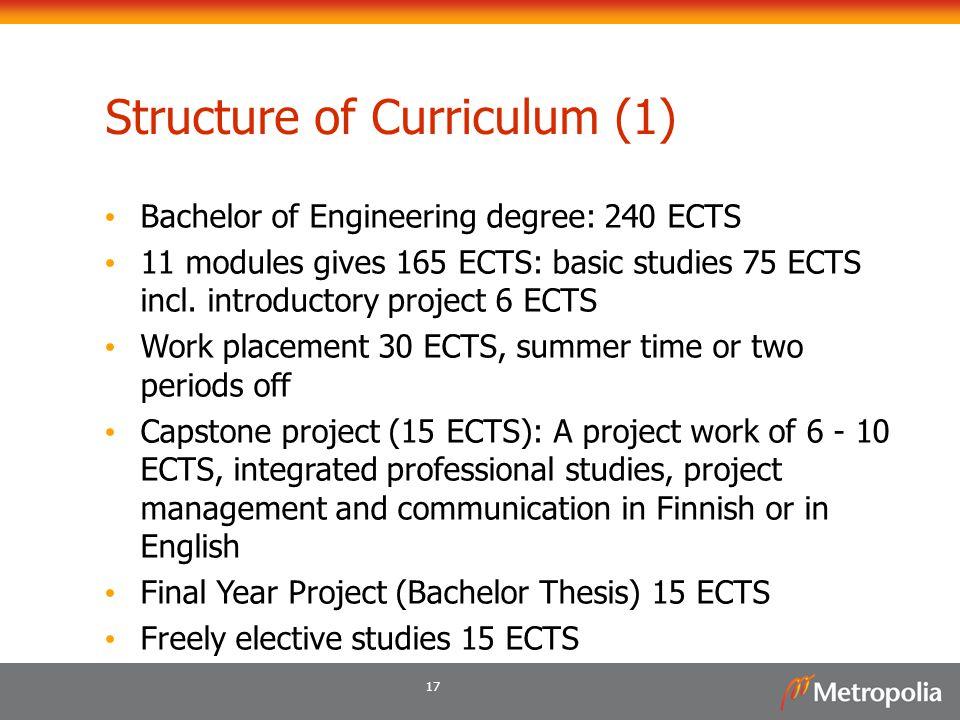 Structure of Curriculum (1)