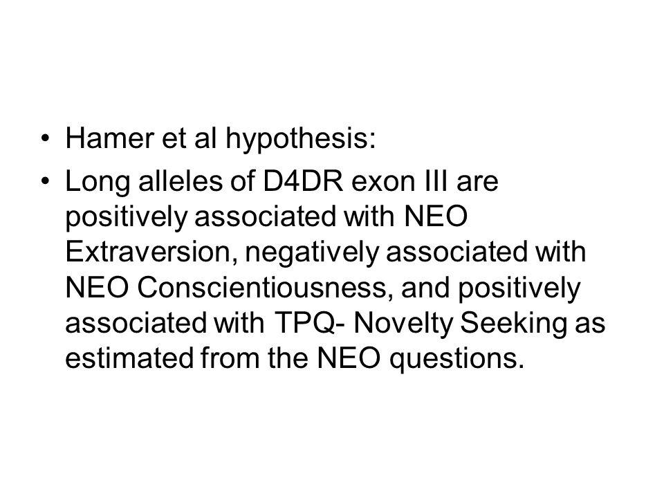 Hamer et al hypothesis: