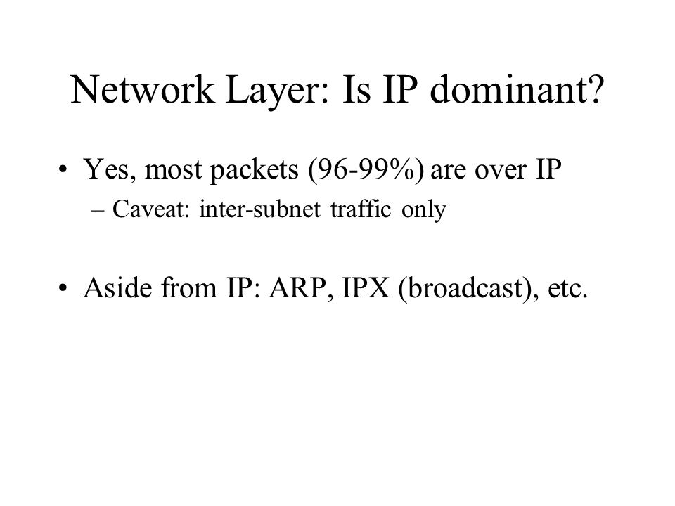 Network Layer: Is IP dominant